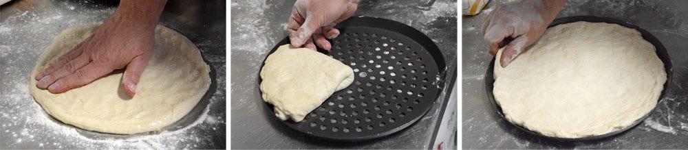 Open up dough ball